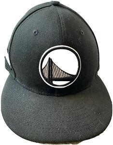 Golden state warriors city logo 9fifty NBA snap back hat New Era Black/White