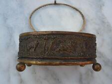 Boite coffret à bijoux décor animaux forêt verre biseauté époque Napoléon III