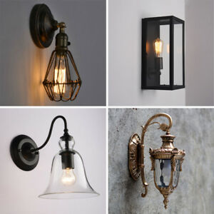 Details about Kitchen Wall Lights Bedroom Industrial Wall Lamp Bar Indoor  Glass Wall Sconce