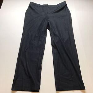 Chicos Size 2.5 Short Dark Blue Straight Leg Dress Pants A1536