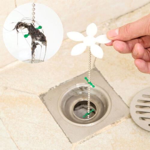 5 pcs Badewannen Abfluss kette Küche Sinken Bath Haarreiniger Haken Plug-Re E7E0