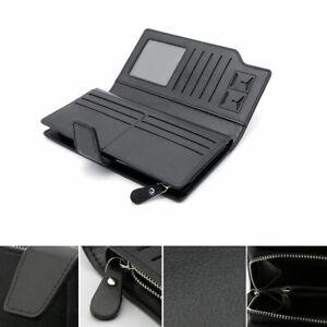 Multifunctional-Men-039-s-Pu-Leather-Wallets-Money-ID-Credit-Card-Holder-Case-Black