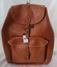 Polo Ralph Lauren Drawstring Leather Backpack Cognac