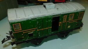 HORNBY-MECCANO-ech-O-1-WAGON-FOURGON-A-BAGAGES-ANCIEN-JOUET-EN-TOLE
