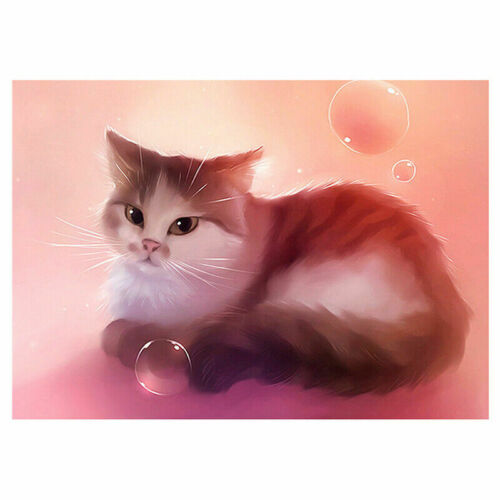 Full Drill 5D DIY Diamond Painting Cat Cross Stitch Embroidery Mosaic Gift