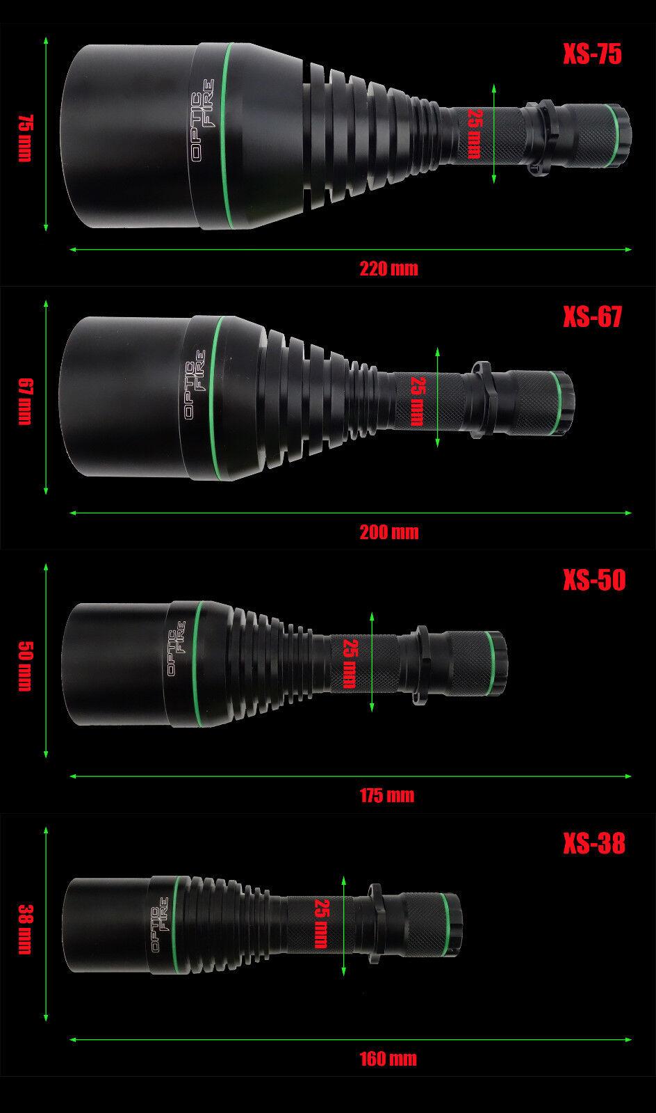 Opticfire® XS LED 3 LED XS High power hunting torch lamping lamp gun light deluxe kit 7d6386