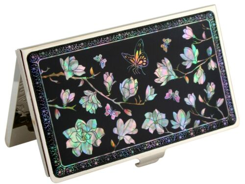 Mother of pearl Business credit card holder ID name card case flower 12 designs
