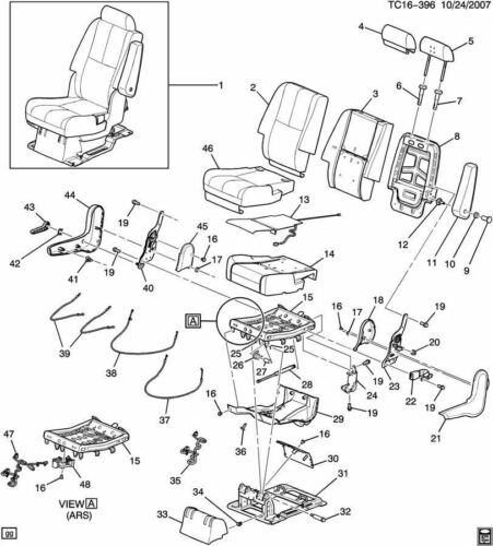 07-13 Chevrolet Suburban Black Ebony Driver LH Seat Back Recliner Handle NEW GM