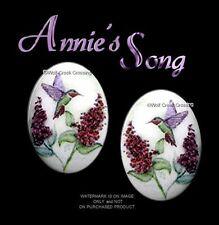 ANNIES SONG HUMMINGBIRD EARRINGS HUMMING BIRD ART POST STUD PIERCED - FREE SHIP