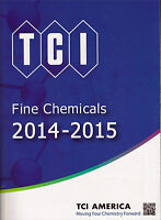 Tci America Fine Chemicals Catalog 2014-2015new In Box Free Shipping