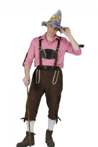 Pantaloni Trachten PANTALONI TIROLESE Oktoberfest Costume Uomo Camoscio ottica NUOVO