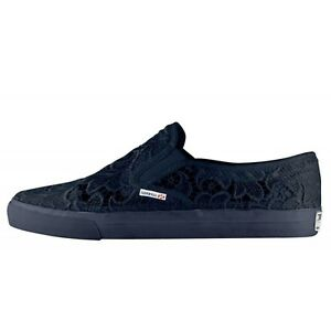 Superga Cotu Classic 2311 Macrame Pizzo Modello Slip On Sneakers Donna Basse Blu