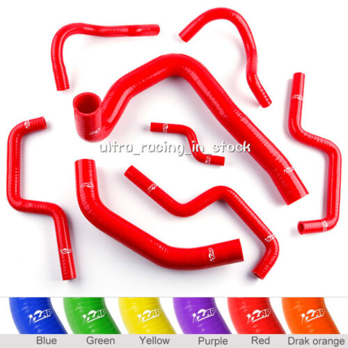 ZAP Silicone Radiator Hose Kit for Holden Commodore VL 3.0l V6 1986-1988 Red