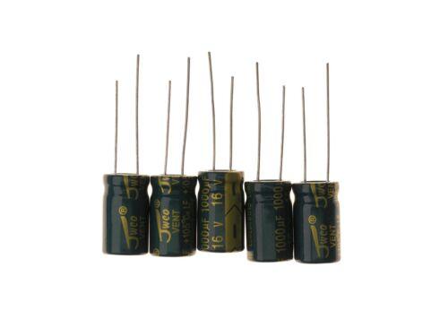 1000UF 16V 8x16mm 105° Radial Elektrolyt Kondensator Capacitor 5 Stück