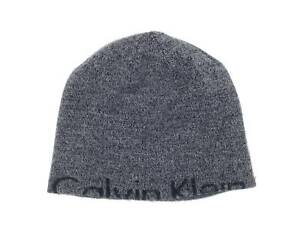 38e6d4a3aee  145 CALVIN KLEIN MEN S GRAY LOGO HAT CK WARM WINTER SKI CAP BEANIE ...