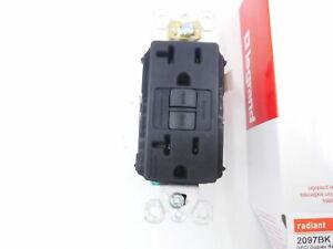 Legrand Pass Seymour 2097TRBK Tamper Resistant 20A BLACK GFCI FREE SHIPPING