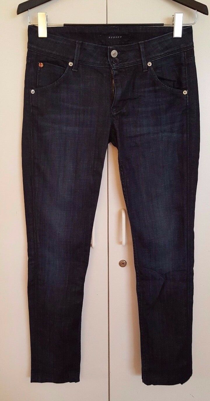 HUDSON JEANS WOMEN'S DARK blueE DENIM blueE JEANS SIZE 27