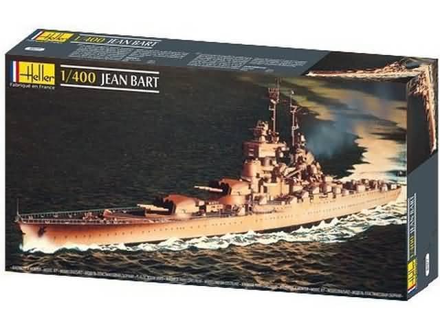 Heller 81077 1 400th skala Franska Richelieu -klass slagskepp Jean Bkonst