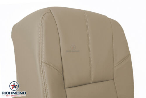 2007 2008 2009 2010 GMC Sierra Denali Driver Side Bottom Leather Seat Cover Tan