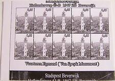 Stadspost Beverwijk 2007 - Vuurtorens Egmond (Lighthouses) zwartdruk, proef 4