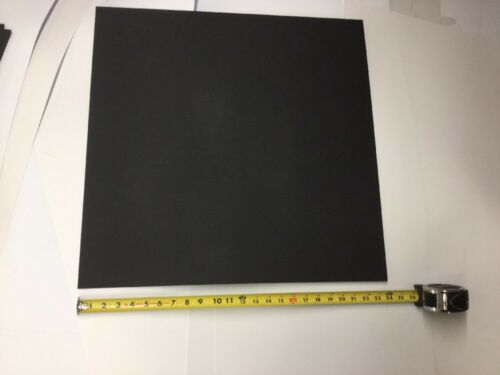 """3//32/"""" X24/""""X23-7//8/"""" HAIRCELL FINISH THERMOFORMING BLACK KYDEX PLASTIC SHEET .093/"""""""