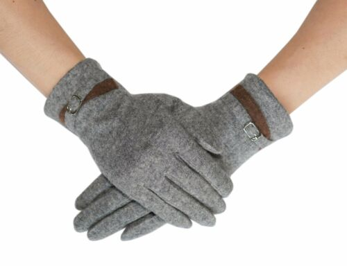 Lovely Womens Fall /& Winter Cashmere Glove with Smart Touch Gray or Beige