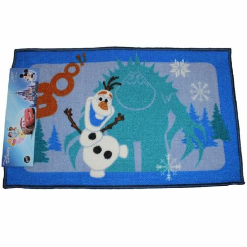 DISNEY FROZEN OLAF SNOWMAN RECTANGULAR BEDROOM CARPET FLOOR RUG DOOR MAT 50x80cm