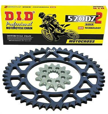 Primary Drive Alloy Kit /& Gold X-Ring Chain Silver Rear Sprocket for Yamaha YZ250X 2016-2018