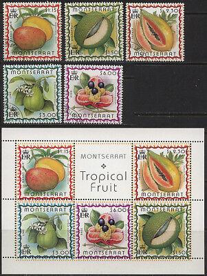 Früchte 10531 Montserrat 1095-1099 O Block 82 ** Privatverkauf Keine Rückna