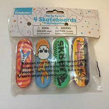 skateboard Party Favors Plastic Skate Sk8 birthday Skater New Sealed