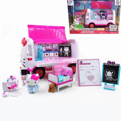 Jada Sanrio Hello Kitty Emergency Ambulance Playset Action Figures Play Kids Toy