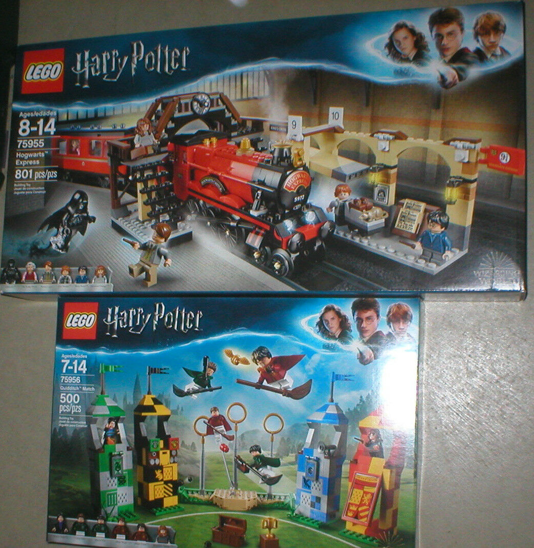 LEGO LEGO LEGO HARRY POTTER HOGWARTS EXPRESS AND QUIDDITCH MATCH SETS, BOTH UNOPENED, b0dee3