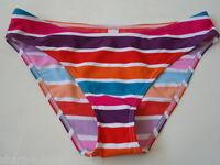BNWT NEW Ladies Multi Coloured Bikini Briefs Swim Beach Bottoms UK 10 EU 38