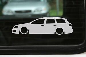Details About 2x Lowered Stickers Auto Aufkleber For Vw Passat R36 B6 Kombi Vag