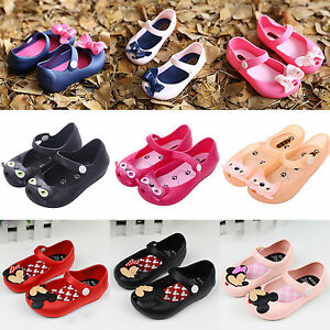 dc5089731306 Image is loading Lovely-Girls-Kids-Cartoon-Mickey-Minnie-Sandals-Casual-