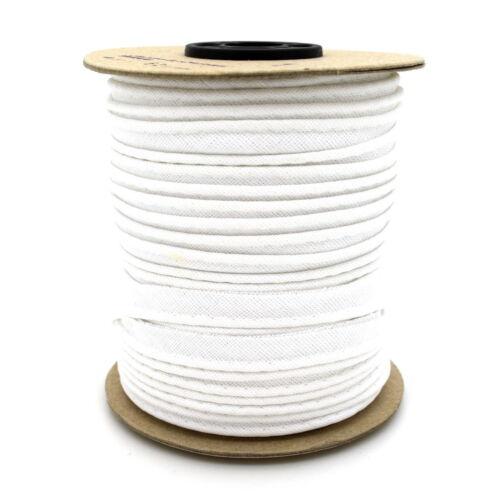 10mm White Cotton Edging Trimming Piping Ribbon Trim Lame Sewing Crafts 1m C101