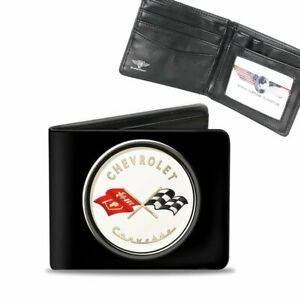 GM Chevy Chevrolet Corvette C1 Flags Börse Wallet Kette Geldbörse Portemonnaie