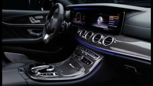 Details about Mercedes-Benz OEM W213 E Class Carbon Fiber Interior Trim Kit  7 Piece Brand New