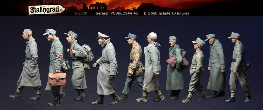 1 35 WW2 German POWs, 1944-45 10 Figures High Quality Resin Kit