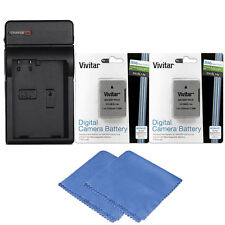 Vivitar Two ENEL14 Battery and Charger for Nikon D5200 D5100 D3200 D5300 D3300