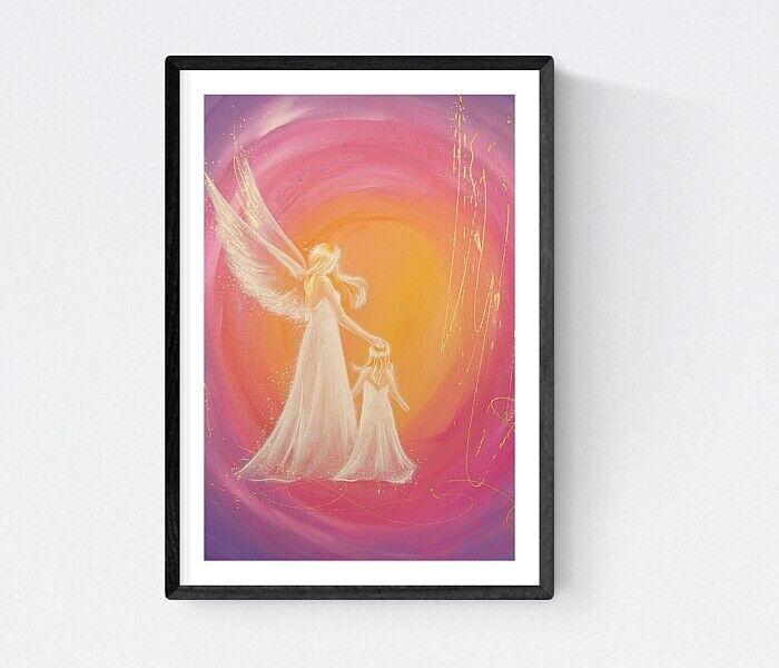 """Gastgeschenk zur Taufe Engel Kunst Foto /""""Immer da/"""" Taufgeschenke Mädchen"""