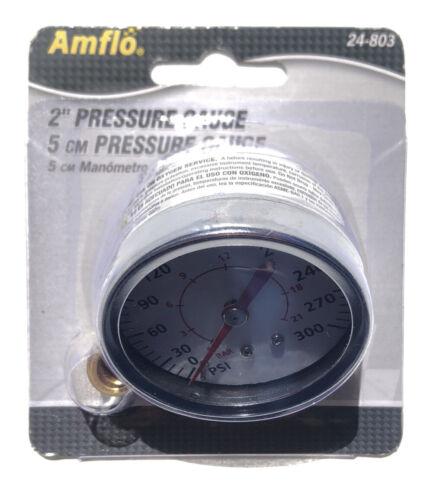 "Air Pressure Gauge 1//8/"" NPT 0-300 PSI Back Mount 1.5/"" Face 1//4/"" NPT Adapter"