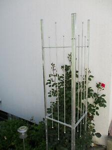 Rankhilfe-2-Teilig-variabel-Rankgitter-Spalier-Gartenzaun-Sichtschutz-verzinkt