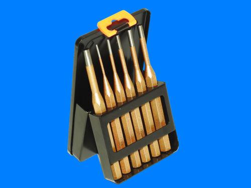 6-tlg Splintentreiber Durchtreiber Durchschlag Splinttreiber Metallkassette P102