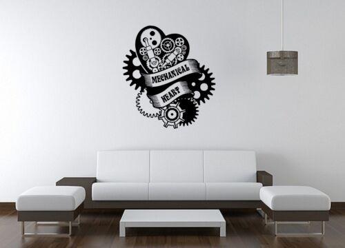 Wall Sticker Mural Decal Vinyl Decor Mechanical Heart Service Parts Shop Auto