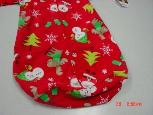 NWT Carters Infant Baby Sleepbag Sleepsack Red Santa Moose Christmas Theme