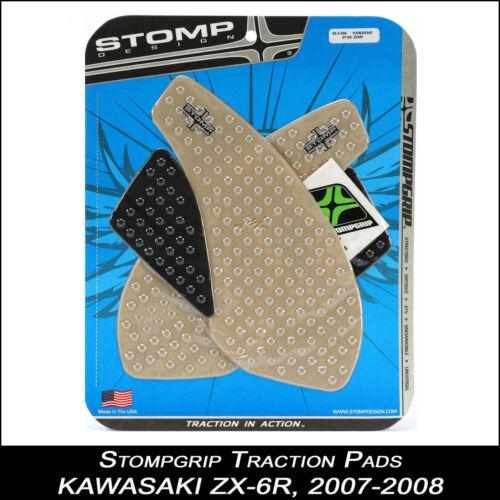 chiaro STOMPGRIP traction Pad 2007-2008 55-10-0032 protezione per il serbatoio KAWASAKI zx-6r