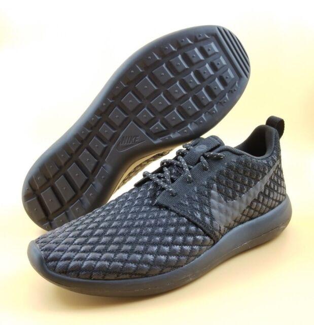 0c4f637b8030 Nike Roshe Two Flyknit 365 SIZE 9.5 Men Running Shoes Black 859535-001  140