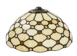 Dettagli su Paralume di ricambio stile TIFFANY per applique lampadari in ferro ottone 30 cm