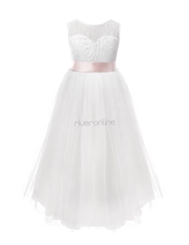 Mädchen Prinzessin Kleid Kinder Ärmellos Rückenfrei Hochzeit Party Fest Kleider